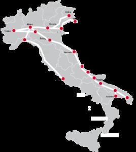 mapa frecciabianca