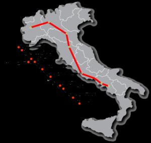 mapa frecciarossa