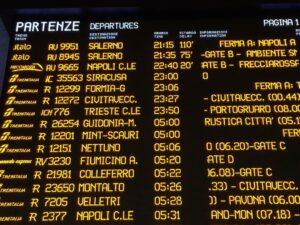 trenes en italia horarios