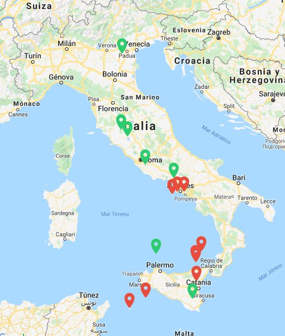 volcanes de italia