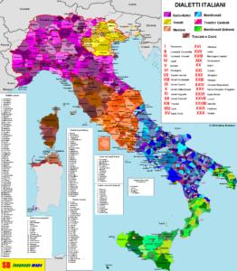 idiomas en italia