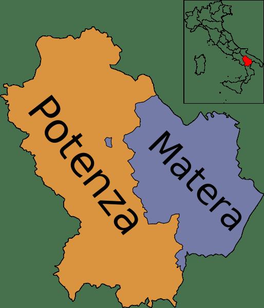 mapa de basilicata