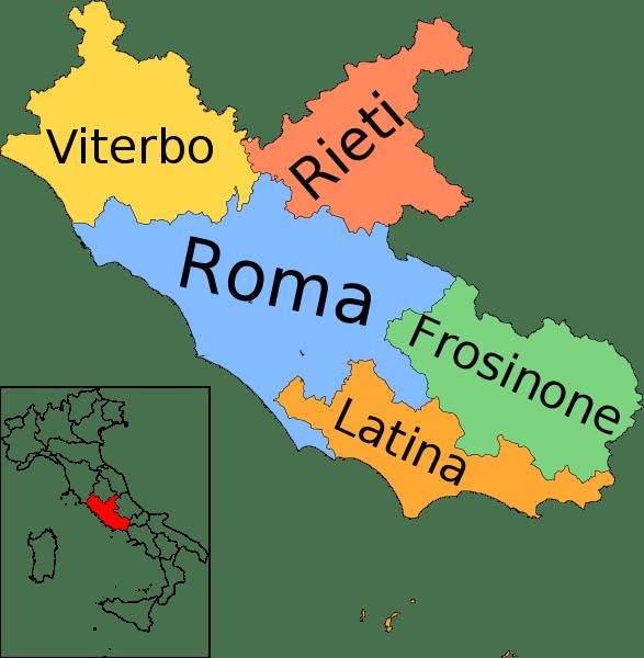 Mapa de Lacio